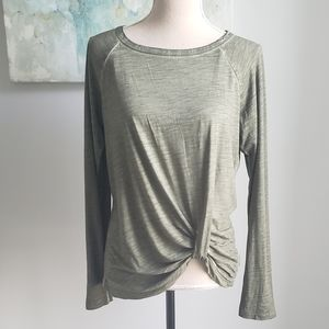 SANCTUARY ADRIENNE TWISTED LONG SLEEVE T-S…